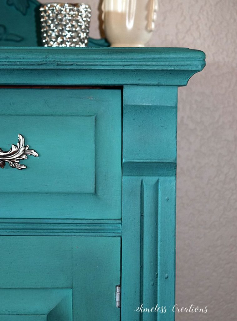 DIY Curved Pediment on Small Washstand 11