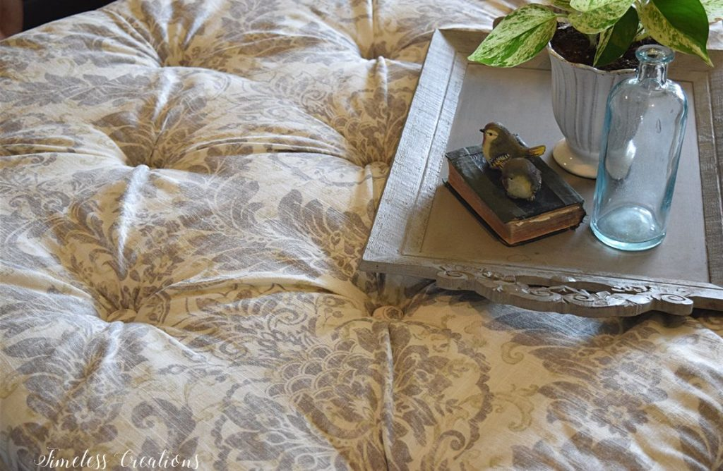 $100 Room Challenge Week 2 - DIY Tufted Ottoman 16