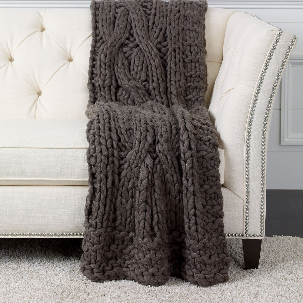 Dark Brown Chunky Knit