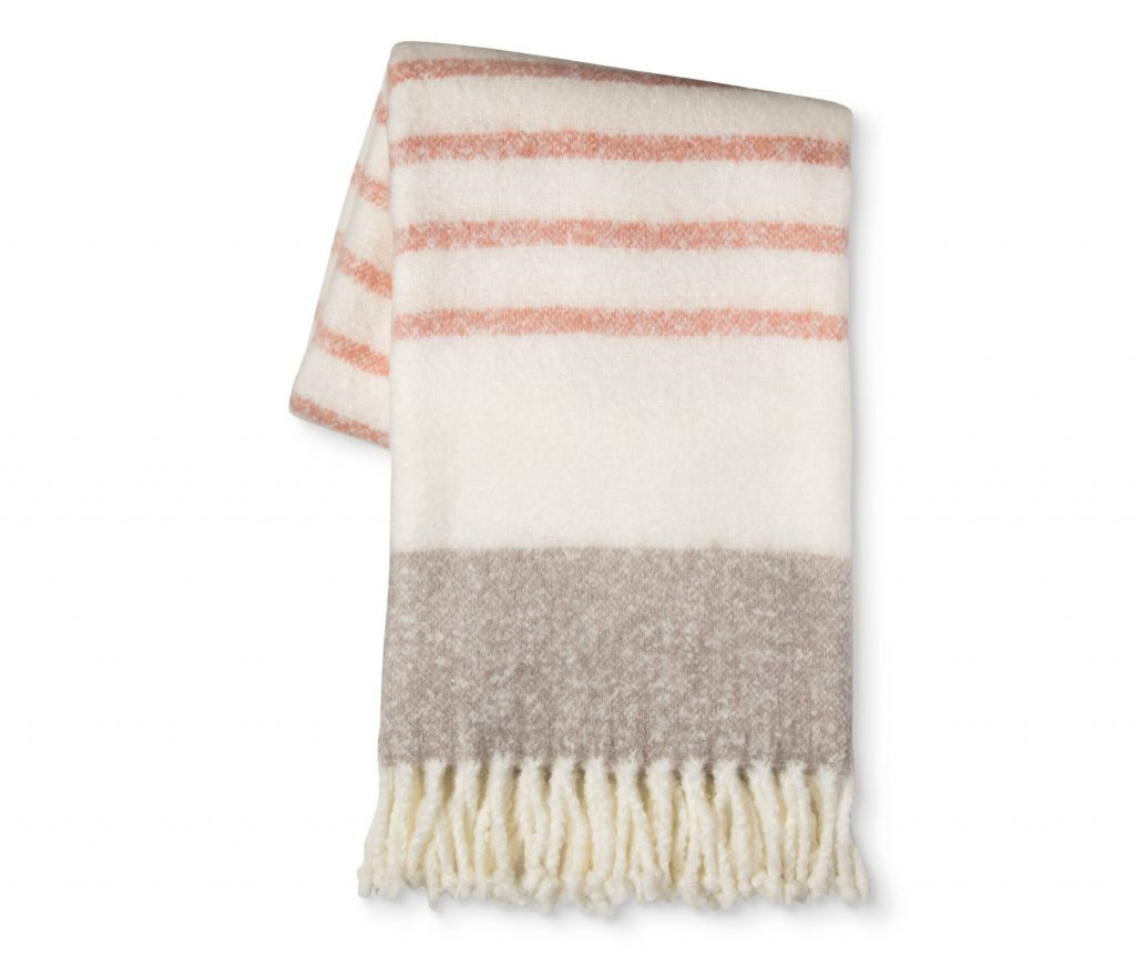 Coral & Taupe Throw