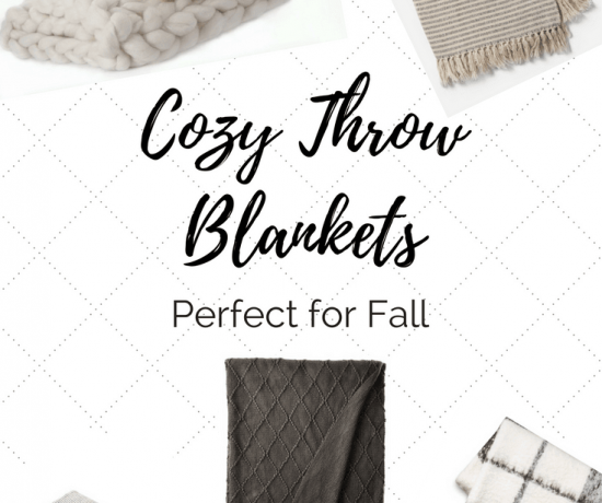 Cozy Throw Blankets for Fall 17