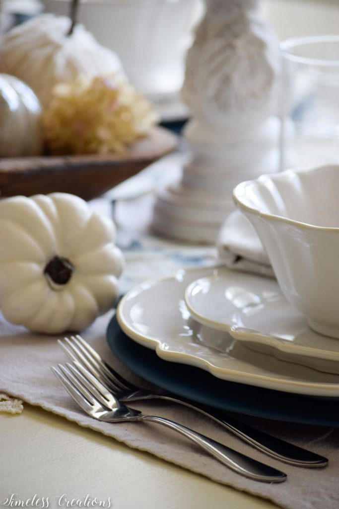 A Surprise 'Pop' of Color for our Fall Tablescape 14