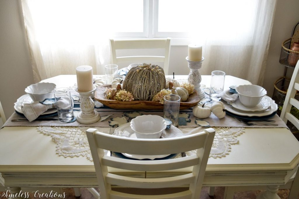 A Surprise 'Pop' of Color for our Fall Tablescape 13