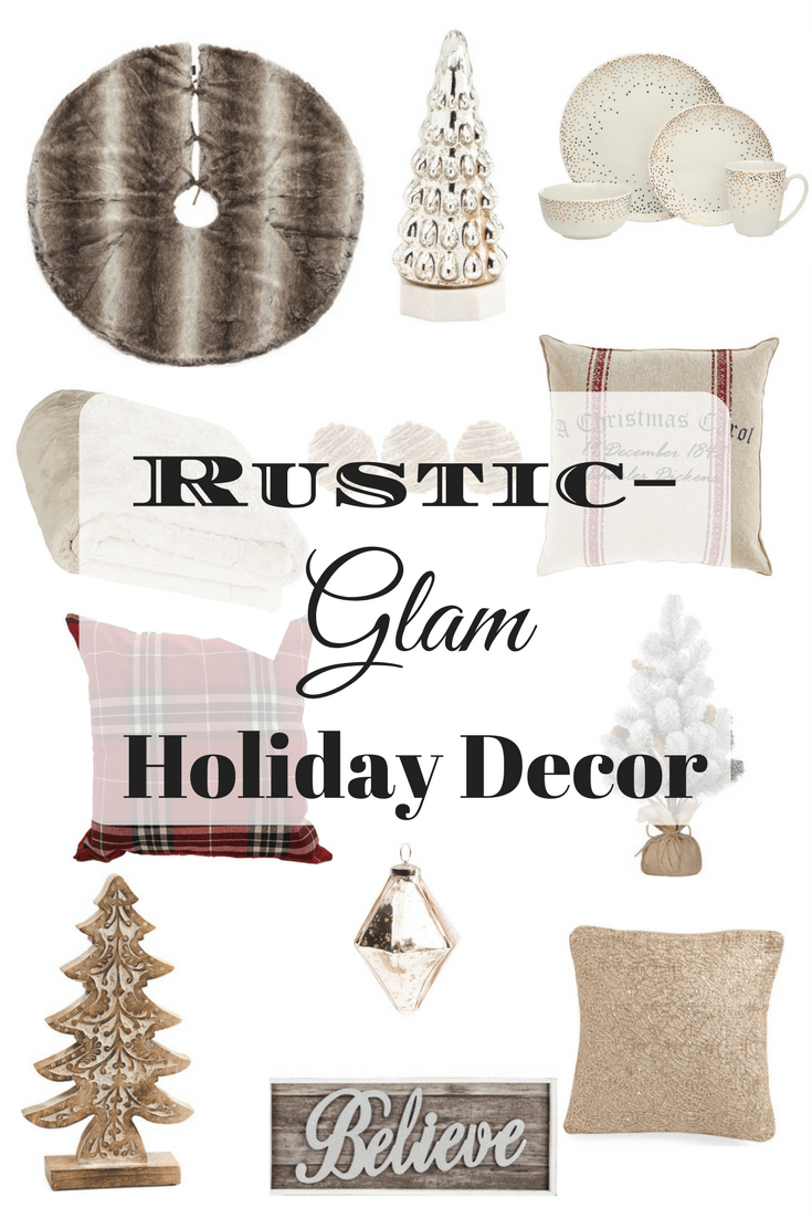 Rustic/Glam Holiday Decorations 1