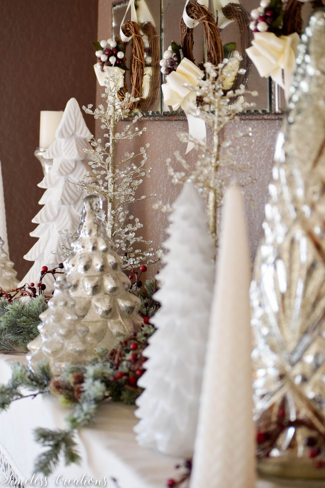 Decorating the Mantle for the Holidays - A Christmas Festival Blog Hop 1
