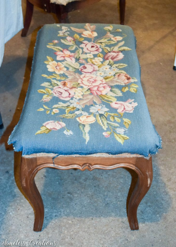 Upholstered French Style Bench 3