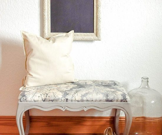 Upholstered French Style Bench 103