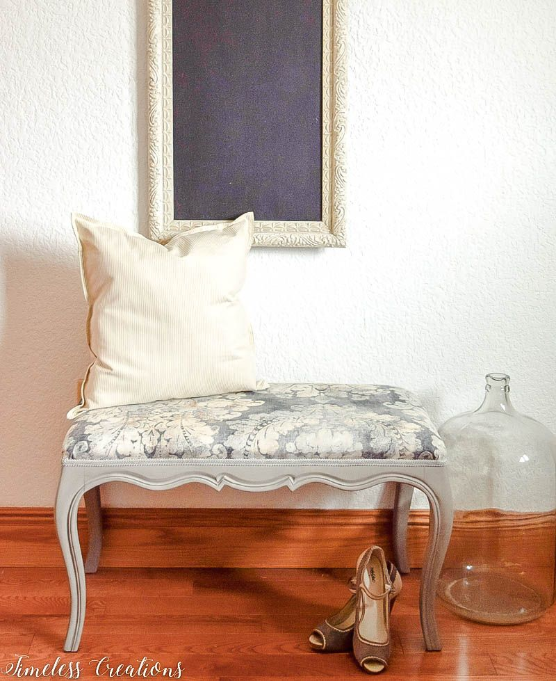 Upholstered French Style Bench 4
