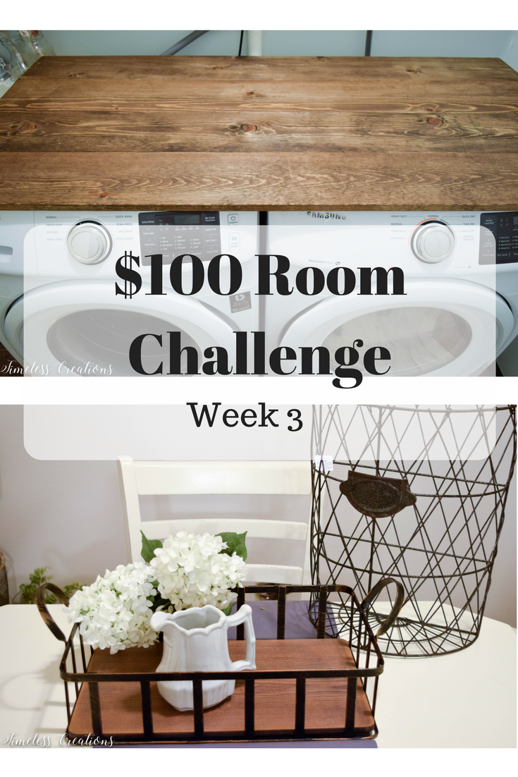 Laundry Room Makeover Week 3 - $100 Room Challenge 1