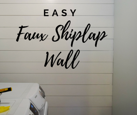Shiplap Wall in the Laundry Room! - $100 Room Challenge Week 4 11