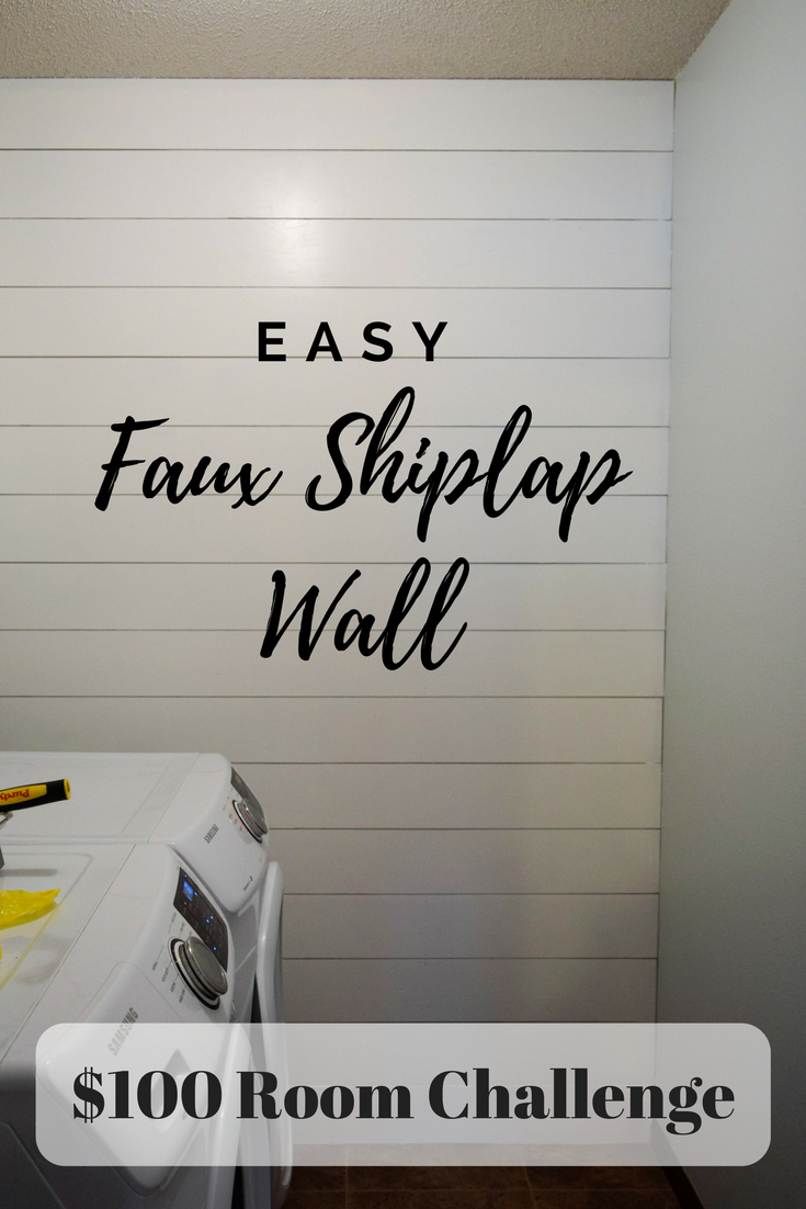 Shiplap Wall In The Laundry Room 100 Room Challenge