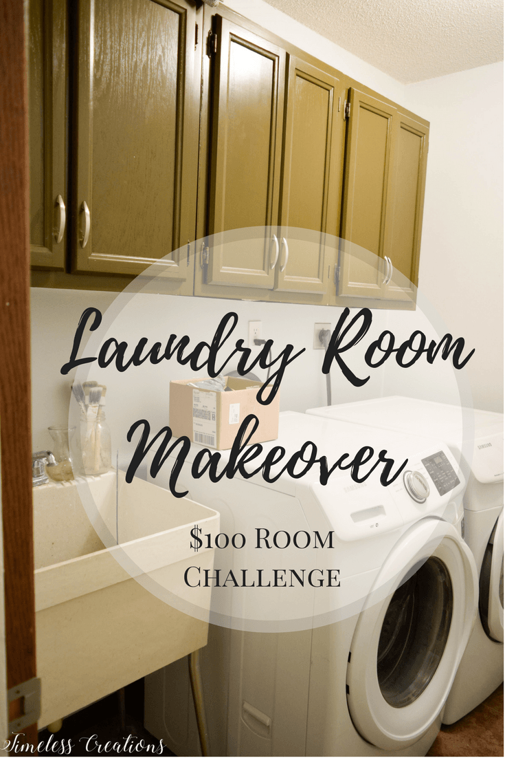 A Laundry Room Makeover - $100 Room Challenge 1