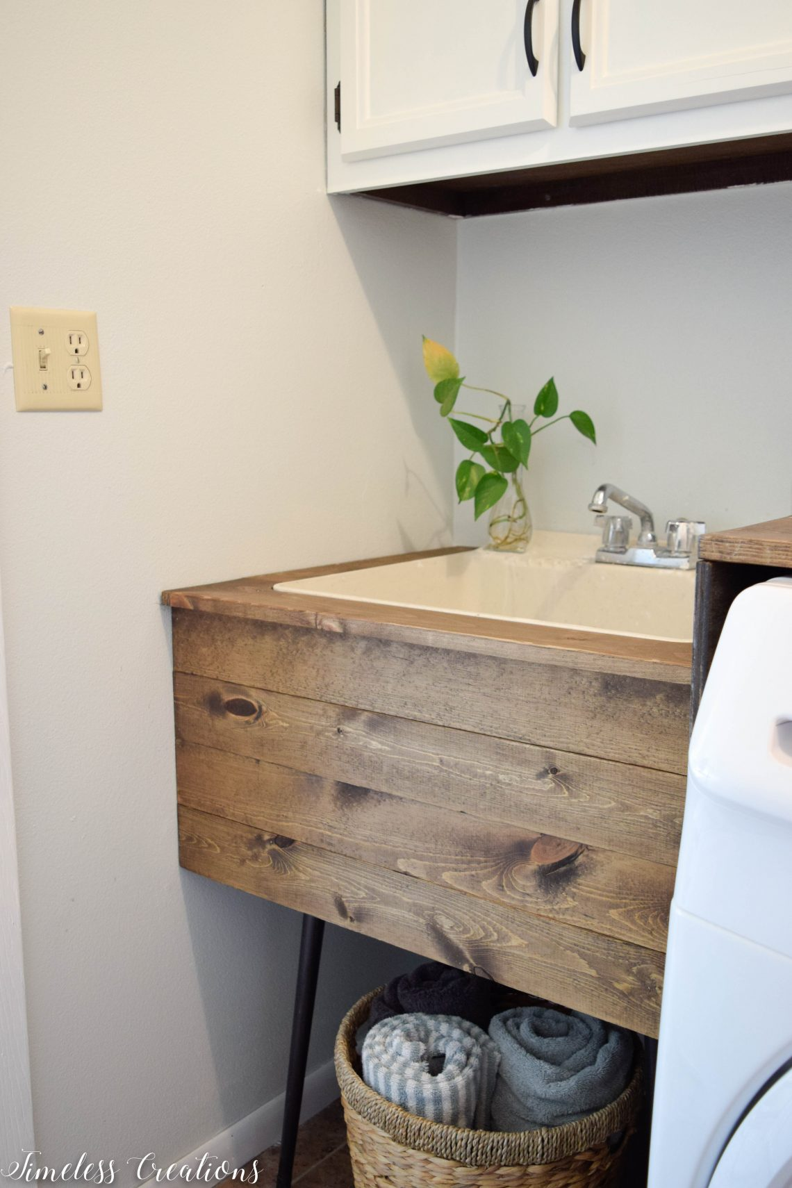 utility sink makeover by timeless creations