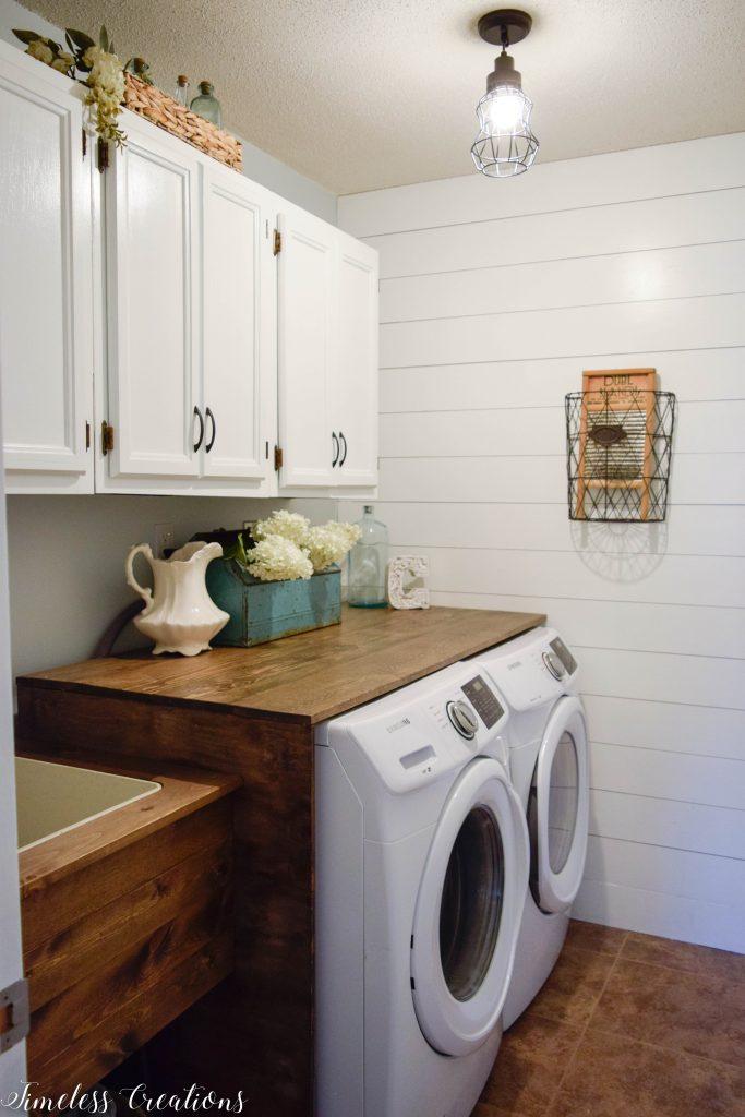 Laundry Room Reveal: $100 Room Challenge 18