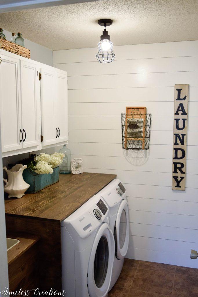Laundry Room Reveal: $100 Room Challenge 14
