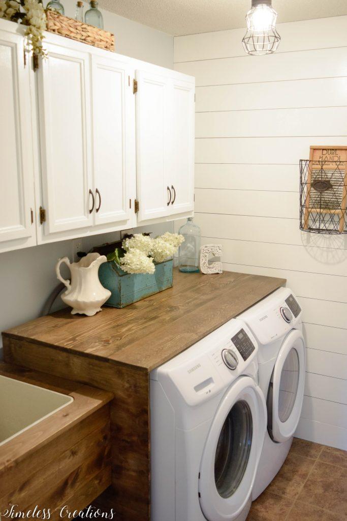 Laundry Room Reveal: $100 Room Challenge 9