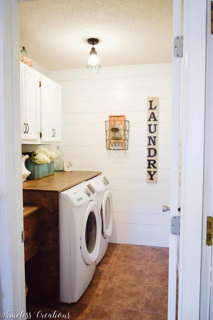 Laundry Room Reveal: $100 Room Challenge 4