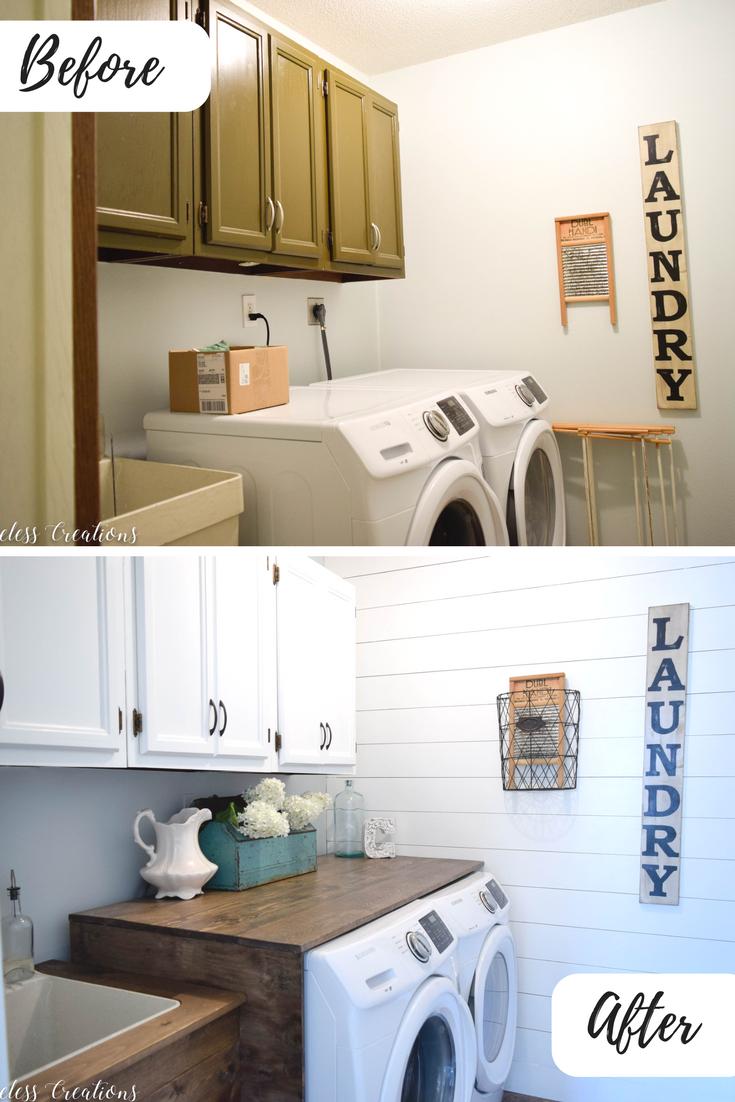 Laundry Room Reveal: $100 Room Challenge 1