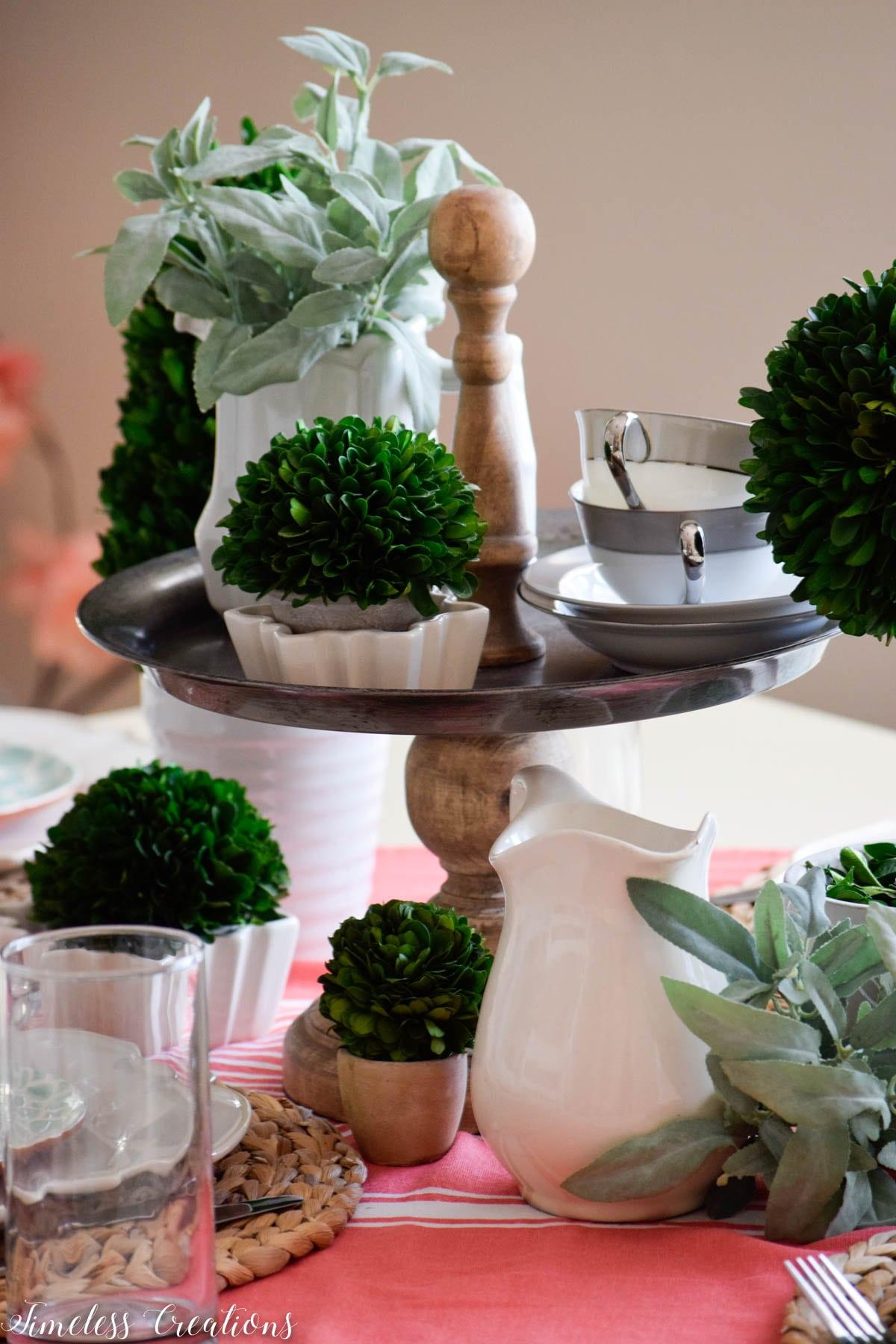 Boxwood Spring Tablescape: Spring Festival Blog Hop 4