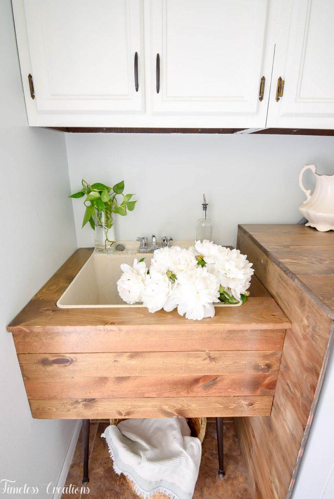 DIY Utility Sink Makeover 12