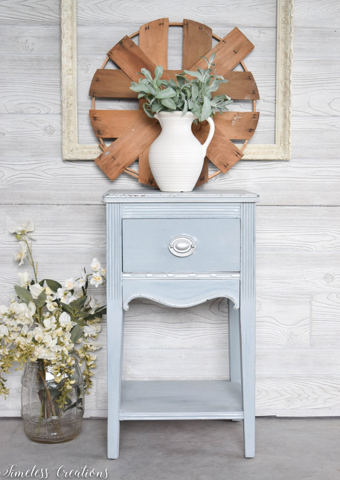 Dreamy Light Blue Side Table Timeless Creations Llc