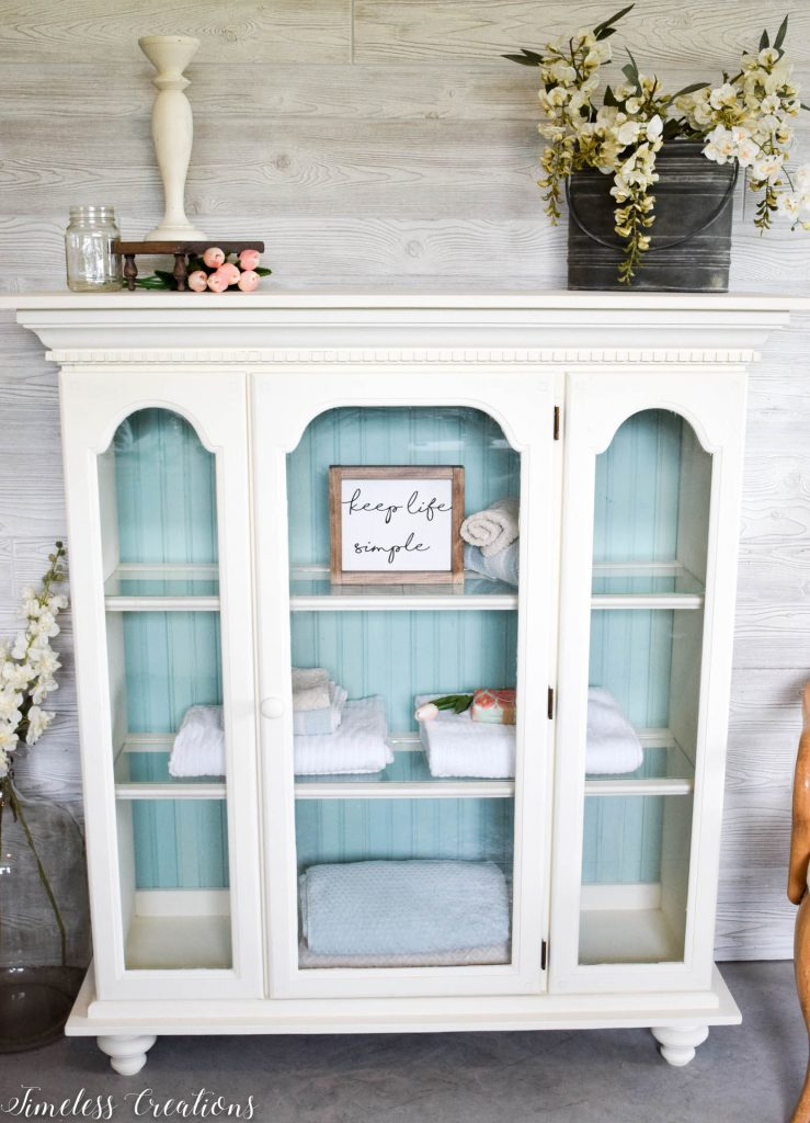 80's China Hutch turned Light & Airy 5