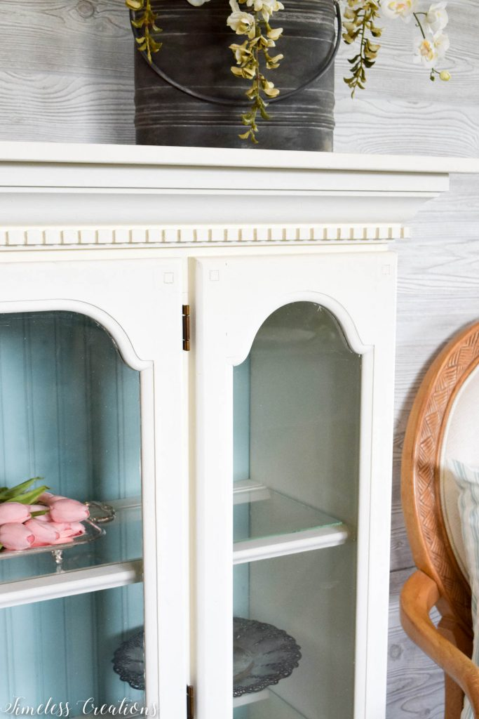80's China Hutch turned Light & Airy 2