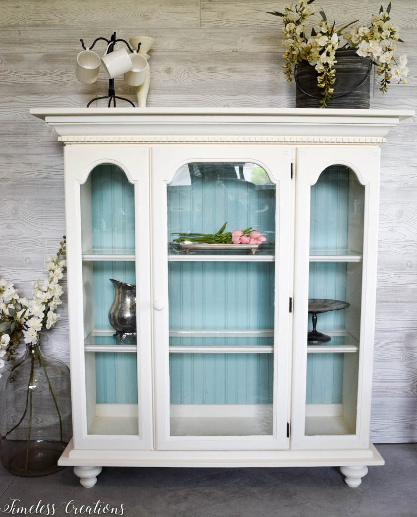 80's China Hutch turned Light & Airy 1