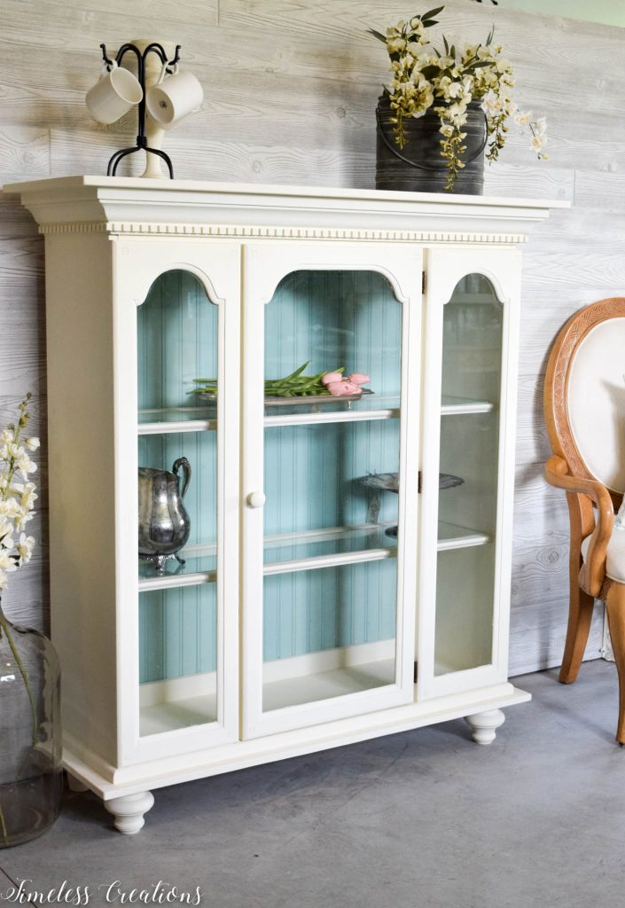 80's China Hutch turned Light & Airy 3