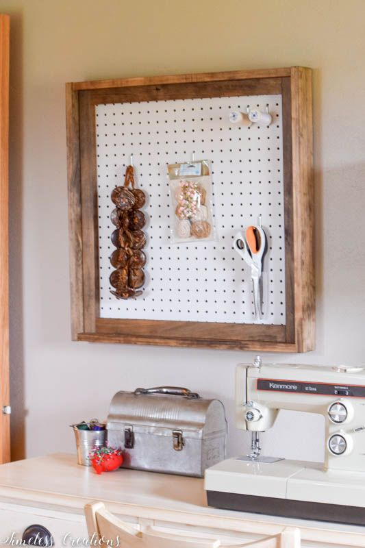 Different Wall Organizers for the Craft Room - $100 Room Challenge Week 3 4