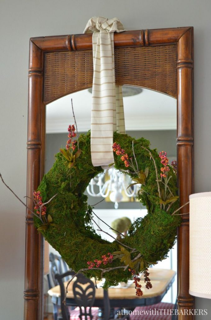 Places to Hang a Wreath that's NOT on the Door! 10