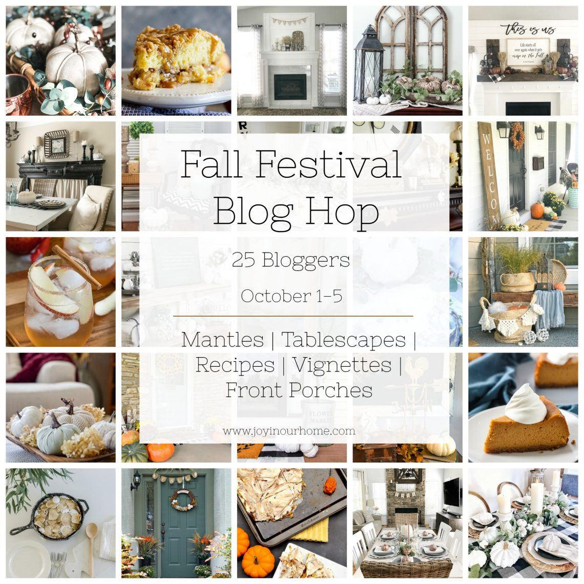 How to Create a Perfect Vignette for Fall - Fall Festival Blog Hop 1