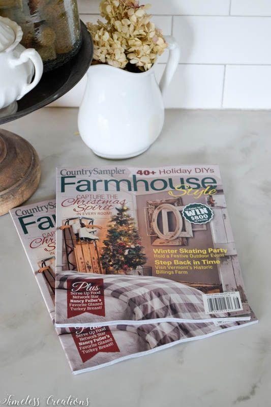 Farmhouse Holiday Wreath + Blog Hop 1
