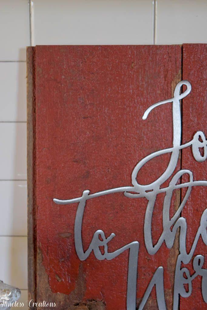 DIY Barnboard Christmas Sign - Deck the Home Blog Hop 6