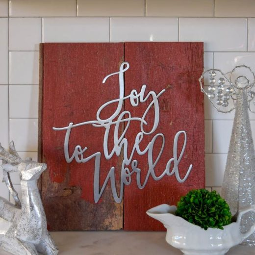 DIY Barnboard Christmas Sign - Deck the Home Blog Hop 133