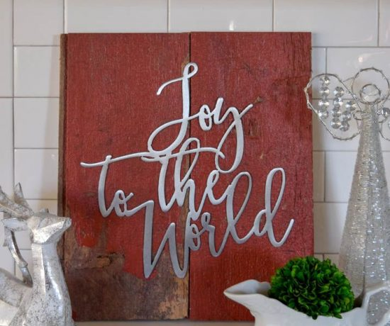DIY Barnboard Christmas Sign - Deck the Home Blog Hop 11