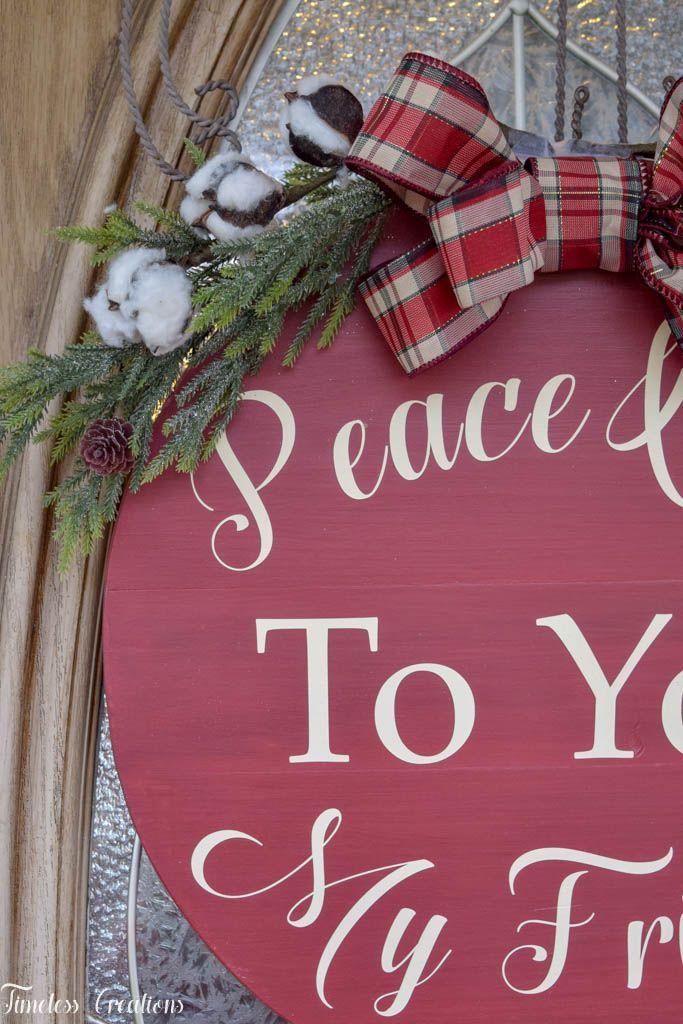 DIY Wood Planked Wreath - Deck the Home Blog Hop 1