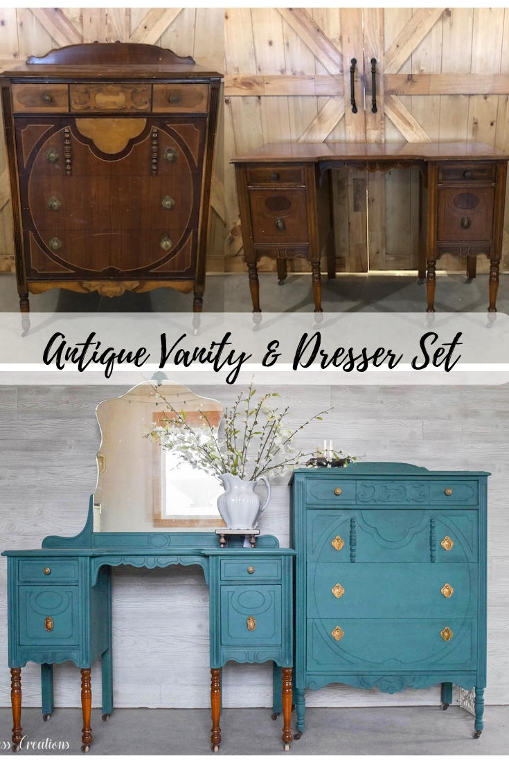 An Antique Vanity And Dresser Set Timeless Creations