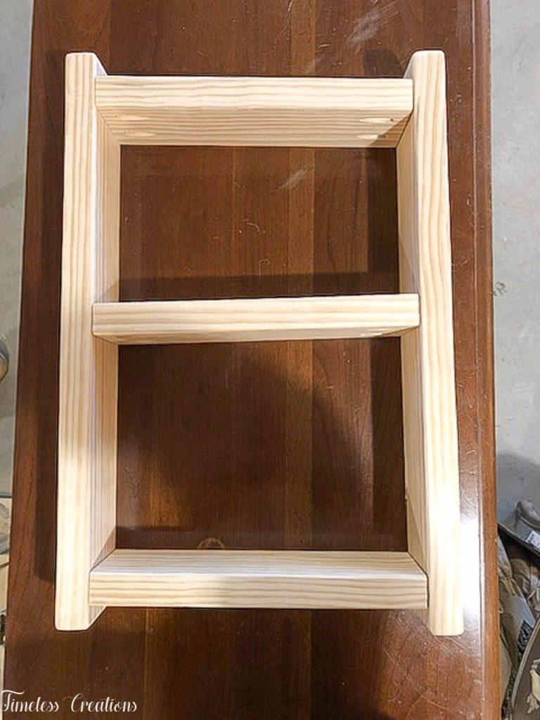 Easy DIY Ladder Shelf - $100 Room Challenge Week 3 5