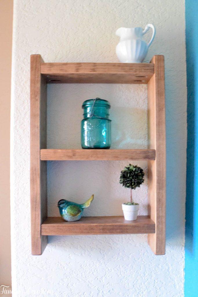 Easy DIY Ladder Shelf - $100 Room Challenge Week 3 7