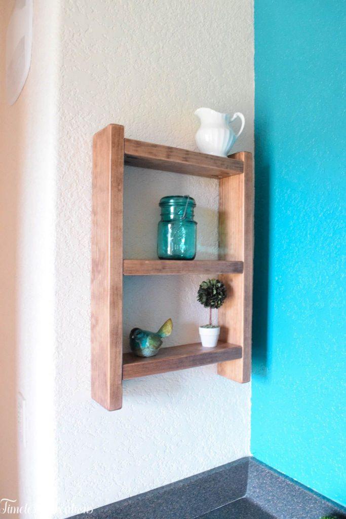 Easy DIY Ladder Shelf - $100 Room Challenge Week 3 2