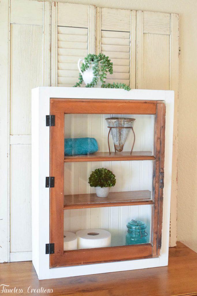 DIY Window Wall Cabinet - $100 Room Challenge Week 4 7
