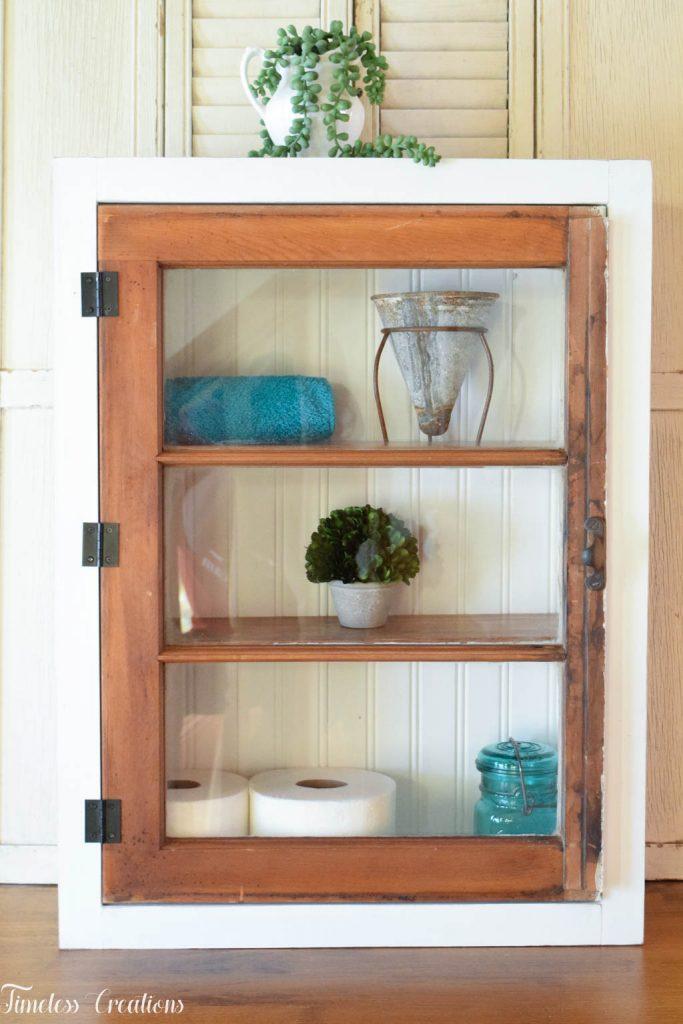 DIY Window Wall Cabinet - $100 Room Challenge Week 4 9