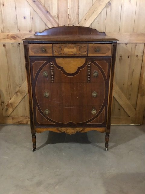 An Antique Vanity and Dresser Set 2