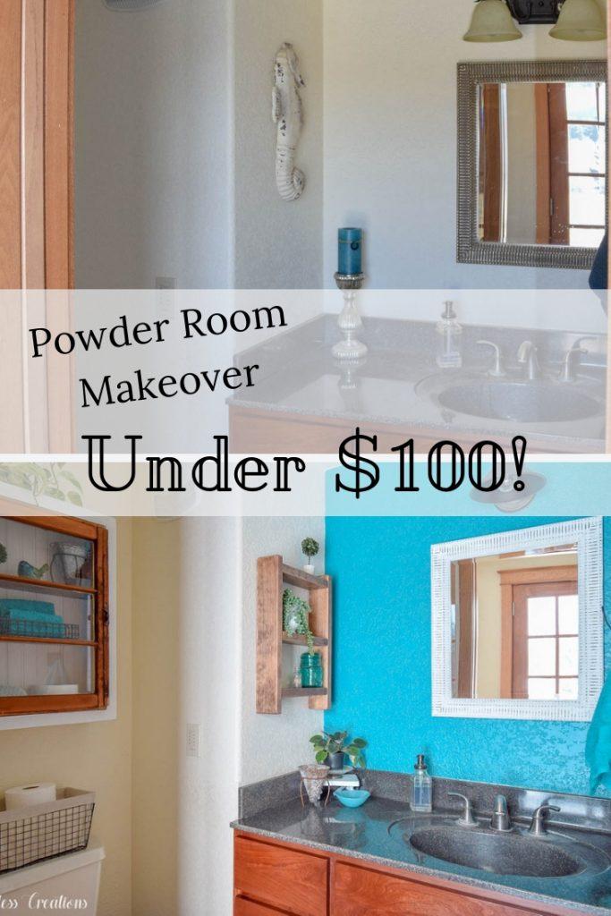 Powder Room Makeover Reveal - $100 Room Challenge Week 5 16
