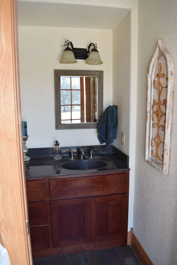 Vicki's Downstairs Bathroom Makeover - $100 Room Challenge 2