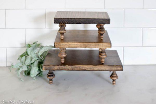 Small Farmhouse Riser / Pedestal Tray 2