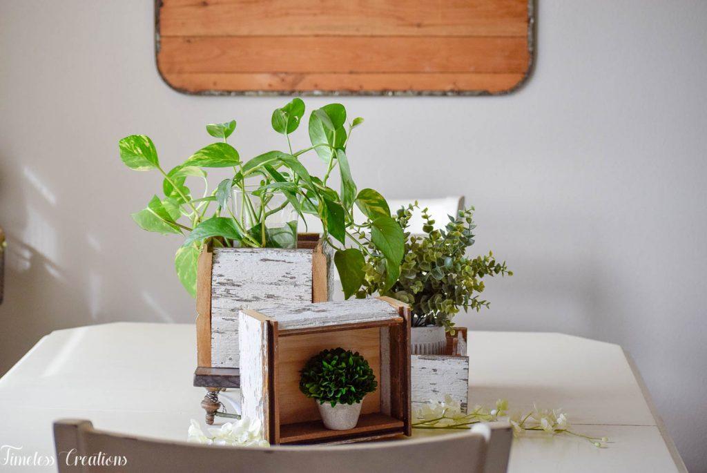 DIY Chippy White Planter Boxes 16