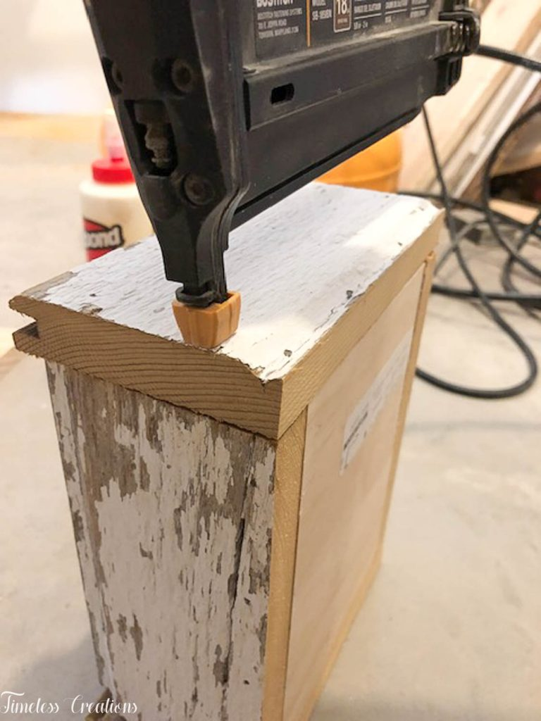 DIY Chippy White Planter Boxes 12