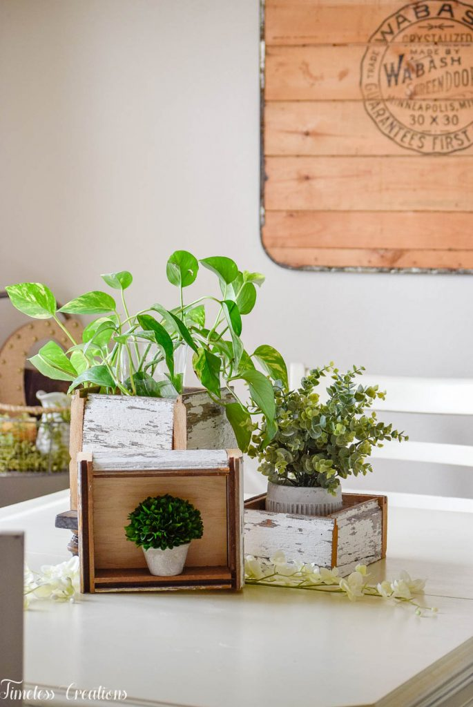 DIY Chippy White Planter Boxes 21